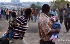 A picture taken by Jon Hrusa during the 2008 xenophobic violence. Picture: Jon Hrusa.