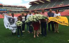 FILE: The families of Rosswin Nation and Mduduzi Thomo laid wreaths of remembrance at the Ellis Park Stadium, 15 years since they lost their loved ones in SA's biggest stadium disaster. Picture: Vumani Mkhize/EWN.