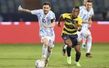 Argentina beat Ecuador 3-0 in Goiania on 3 July 2021 to reach the Copa America semi-finals. Picture: @CopaAmerica/Twitter.