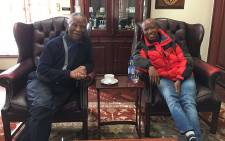 Former president Thabo Mbeki (L) and EFF leader Julius Malema (R). Picture: @EFFSouthAfrica via Twitter.