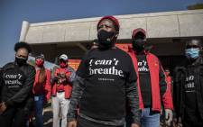 EFF leader Julius Malema at the party's solidarity protest with the 'Black Lives Matter' movement outside the US embassy in Pretoria. Pictures: Abigail Javier/EWN