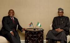 FILE: President Cyril Ramaphosa and President Muhammadu Buhari of Nigeria. Picture: GCIS.