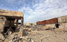 FILE: A general view shows destruction in Sirte. Picture: AFP.