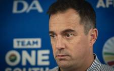 DA interim leader John Steenhuisen at the media briefing at Nkululeko House on 23 February 2020. Picture: Sethembiso Zulu/EWN