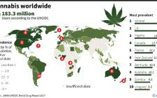 Estimated prevalence of dagga use around the world. On 18 September 2018 South Africa's Constitutional Court ruled that it's legal to cultivate and consume dagga for personal use.