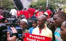 COSATU members march against labour broking. Picture: EWN