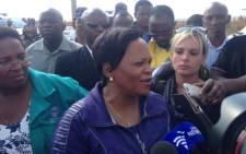 Gauteng Premier Nomvula mokonyane in Bekkersdal. Picture: Sebabatso Mosamo/EWN