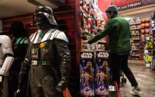 """Toys from """"Star Wars: The Force Awakens"""" are sold in the Toys R Us in Times Square. Picture: Getty Images/AFP."""