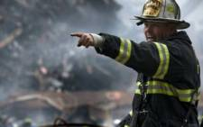 A fireman on the scene of the 9/11 terror attack in New York City. Picture: AFP