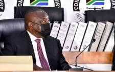 President Cyril Ramaphosa appears at the state capture inquiry on 11 August 2021. Picture: GCIS