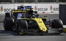 Renault driver Daniel Ricciardo during the Azerbaijan F1 Grand Prix at the Baku City Circuit in Baku on 28 April 2019. Picture: AFP