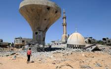 FILE: A view of the remains of structures hit by Israeli strikes in the Gaza Strip. Picture: United Nations Photo.
