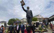 The unveiling of the new statue of Oliver Tambo. Picture: Abigail Javier/EWN