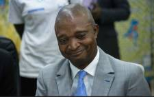 FILE: Former interior minister Emmanuel Ramazani Shadary is pictured at the Electoral Commission in Kinshasa on 8 August 2018. DRC President Joseph Kabila, ending months of speculation, has chosen former interior minister Emmanuel Ramazani Shadary to be his successor in upcoming elections. Picture: AFP