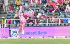 FILE: Kagiso Rabada in action during the Pink ODI vs Pakistan on 27 January 2019. Picture: @OfficialCricketSA/Twitter