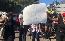 Dozens of people marched to Parliament on 16 April 2021 to express their anger over an apparent homophobic killing. The demonstration was conducted under the banner #JusticeForLulu for Lulu Ntuthela. Picture: Graig-Lee Smith/Eyewitness News.