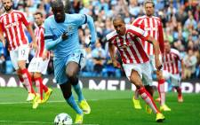 FILE:Manchester City's Yaya Toure (L) vies for the ball with Steven N'Zonzi of Stoke City during the English Premier League match between Manchester City and Stoke at the Etihad stadium in Manchester, Britain, 30 August 2014. Picture: EPA.