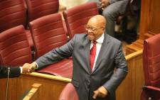President Jacob Zuma arrives for the Q&A session at the NCOP. Picture: Anthony Molyneaux