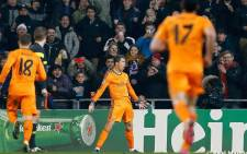 Real Madrid's Cristiano Ronaldo celebrates after scoring against FC Copenhagen in the Champions League on 10 December 2013. Picrture: Facebook
