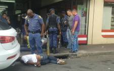 Scene of the hijacking incident in Randburg. Picture: Supplied.