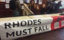 FILE: The University of Cape Town's (UCT) student group, the Rhodes Must Fall Movement demonstrating. Picture: Masa Kekana/EWN.
