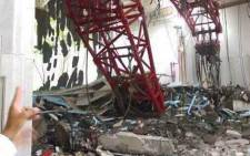 A crane collapsed at the Grand Mosque in Mecca on 11 September 2015. Picture: Supplied.