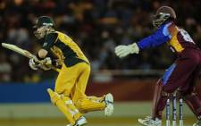 West Indies cricket player (right). Picture: AFP