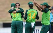 Proteas Women celebrate after securing a series whitewash against New Zealand on 30 January 2020. Picture: @OfficialCSA/Twitter.