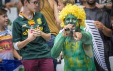 FILE: Superfan Theuns Kleinhans makes his contribution towards the electrifying atmosphere at the inaugural Cape Town Sevens tournament on 12 December 2015. Picture: Aletta Harrison/EWN.