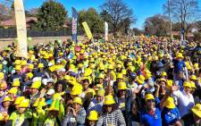 Thousands of participants of the MTN 702 Walk the Talk. Picture: Twitter @Radio702.