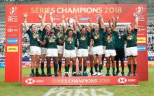 The Blitzboks celebrate their world title victory in Paris on 10 June 2018. Picture: @Blitzboks/Twitter