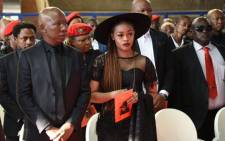 FILE: EFF leader Julius Malema (left) and his wife Mantoa Matlala-Malema (right) at his grandmother's funeral on 11 May 2019. Picture: @EFFSouthAfrica/Twitter