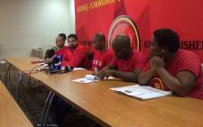 FIE: The Young Communist League briefing media on outcomes of its 6th Plenary Session. Picture: Masa Kekana/EWN.