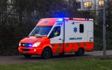 FILE: An ambulance in Utrecht. Picture: AFP