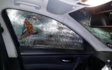 Magistrate Mphafolane Koma says the windows of his BMW were smashed with the hammer after a young white man called him the k-word. Picture: Soial media.