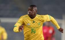 Bongokuhle Hlongwane scored the winner for Bafana Bafana in their 2022 World Cup qualifying match against Ghana on 6 September 2021. Picture: @BafanaBafana/Twitter