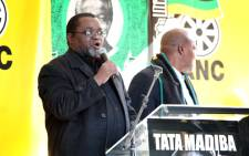 FILE: ANC members held a prayer service outside Luthuli House in Johannesburg to wish Nelson Mandela well while he's recovering in a Pretoria hospital.ANC Secretary General Gwede Mantashe addressed the crowed. Picture: Sebabatso Mosamo/EWN