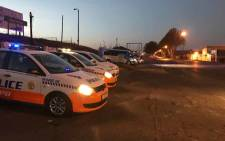 Johannesburg Metropolitan Police Department monitoring the Dube taxi rank on 13 July. Picture: EWN Traffic via @MpumiNgubeni/Twitter