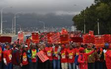 Numsa members in Cape Town take part in a march marking the start of a national strike on 1 July 2014. Picture: EWN