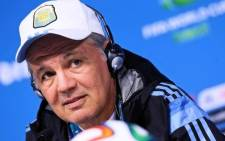 Argentina coach Alejandro Sabella has guided his side to the semifinals of the 2014 World Cup. Picture: Official Argentina National Team Facebook Page.