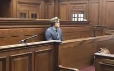 Triple-murder accused Henri van Breda is seen in the Western Cape High Court on 21 September. Picture: Monique Mortlock/EWN