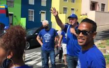 The DA's mayoral candidate Geordin Hill-Lewis and provincial Premier Alan Winde took their campaign to the colourful streets of Bo-Kaap on 26 October 2021. Picture: Kevin Brandt/Eyewitness News
