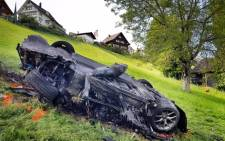 Richard Hammond had to be pulled from the wreckage of the supercar. Picture: Twitter/@thegrandtour.