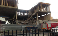 An investigation is underway after three stories of a partially constructed building collapsed in Randfontein. Picture: ‏@magebaprince via Twitter