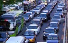 FILE: A Beijing traffic jam.