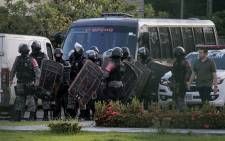 Brazilian riot police prepare to invade the Puraquequara Prison facility at Bela Vista community, Puraquequara neighbourhood at the city of Manaus, Amazonas state on 27 May 2019. Picture: AFP
