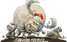 Cartoon: Are coalition parties on the horns of a dilemma?