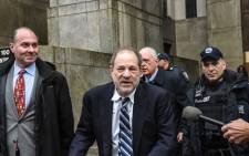 Movie producer Harvey Weinstein departs his sexual assault trial at New York Criminal Court on 13 February 2020 in New York City. Picture: AFP