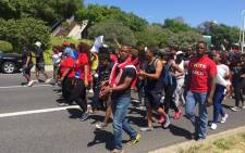 Cape Peninsula University of Technology's students have just joined the chorus of protesting students across the country calling for universities to stop their proposed fee hike. Picture Xolani Koyana/EWN.