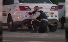 Police in Canada searching for a suspect who shot 5 police officers. Picture: CNN.